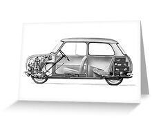 Morris Mini Cooper Greeting Card