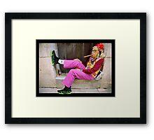 Sneaker Grandma Framed Print