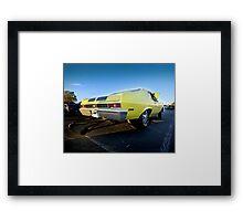 Chevy Nova SS Drag Car Framed Print