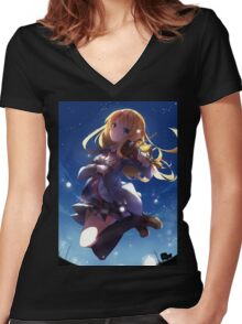 Kaori - A Fading Star Women's Fitted V-Neck T-Shirt