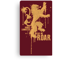 House Lannister Game of Thrones Shirt Canvas Print
