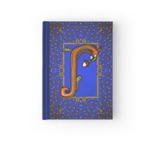 Letter J Squirrel Book Page Hardcover Journal