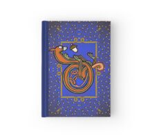 Letter D Squirrel book page Hardcover Journal
