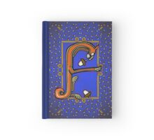 Letter F Squirrel book page Hardcover Journal