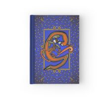 Letter G Squirrel Book page Hardcover Journal