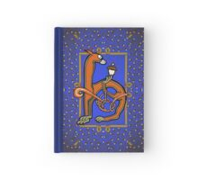 Letter H Squirrel book page Hardcover Journal