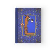 Letter L Squirrel book page Hardcover Journal