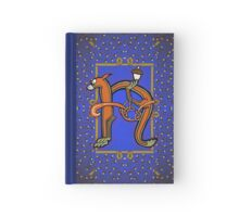 Letter N Squirrel book page Hardcover Journal