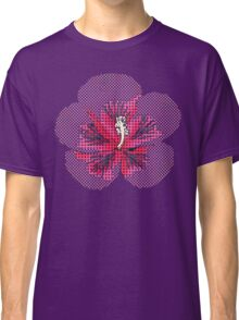 Pink Hibiscus Halftone Classic T-Shirt