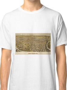 Vintage Pictorial Map of Fort Worth TX (1891) Classic T-Shirt