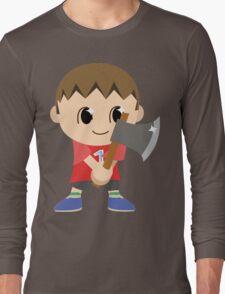 Chibi Animal Crossing Villager Vector Long Sleeve T-Shirt