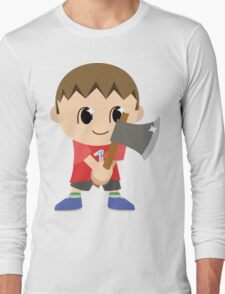 Chibi Animal Crossing Villager Vector Long Sleeve T-Shirt