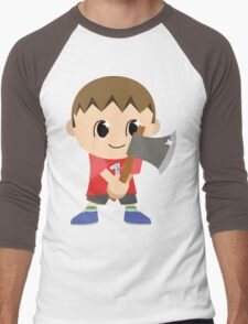 Chibi Animal Crossing Villager Vector Men's Baseball ¾ T-Shirt