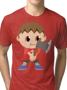 Chibi Animal Crossing Villager Vector Tri-blend T-Shirt