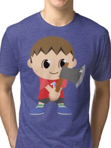 Chibi Animal Crossing Villager Vector Tri-blend T-Shirt