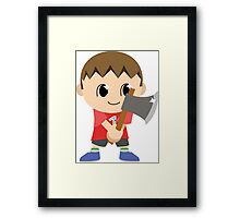 Chibi Animal Crossing Villager Vector Framed Print