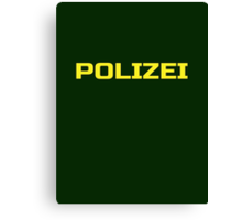 Polizei Shirt - German Police Green Punk T-Shirt Canvas Print