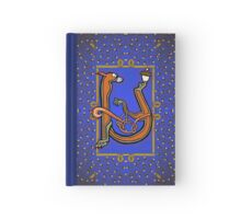 Letter U Squirrel book page Hardcover Journal