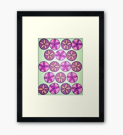 Pink and Purple Flower Pattern Framed Print