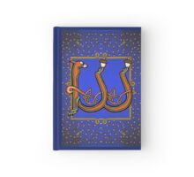 Letter W Squirrel book page Hardcover Journal