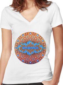 Burgkaba Mandala Logo Women's Fitted V-Neck T-Shirt