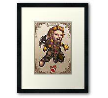 Tiny Fantasy Adventures: Fighter Framed Print