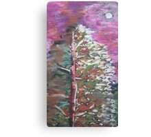 Oil Pink Tree Canvas Print