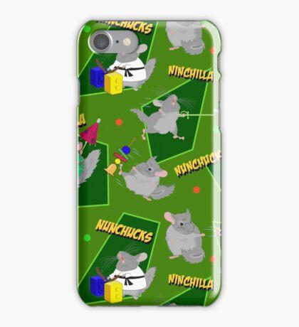 NinChilla Nunchucks in Grannysmith iPhone Case/Skin