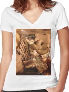 Cookie Jar Women's Fitted V-Neck T-Shirt