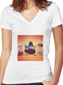 Vader's Weekend Women's Fitted V-Neck T-Shirt