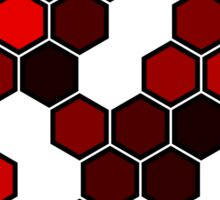 Red Honeycomb Sticker