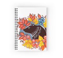 The Bear in autumn forest Spiral Notebook