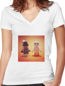 "Empire Fried Chicken ""EFC"" Women's Fitted V-Neck T-Shirt"