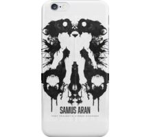 Samus Aran Metroid Geek Ink Blot Test iPhone Case/Skin