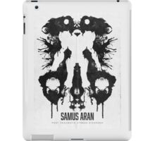 Samus Aran Metroid Geek Ink Blot Test iPad Case/Skin