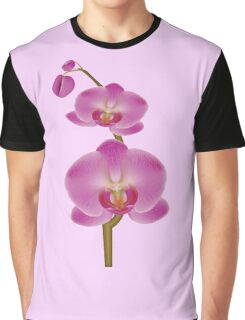 Pink Orchid Flower Graphic T-Shirt