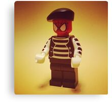 Spider-Mime Canvas Print