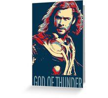 God of Thunder Greeting Card