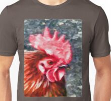 Head of a Rooster Unisex T-Shirt