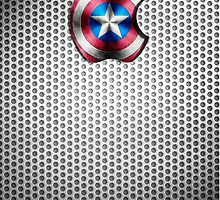 Steel Captain America Iphone by LumpyHippo