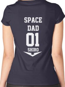 Voltron - Space Dad White Women's Fitted Scoop T-Shirt