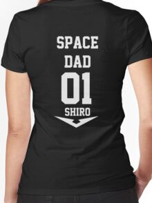 Voltron - Space Dad White Women's Fitted V-Neck T-Shirt