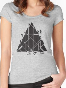 PLACE Sci-Fi Triangle Women's Fitted Scoop T-Shirt