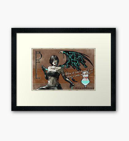 Black Fairy Lethal Framed Print