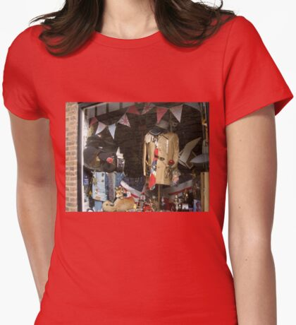 Vintage Window Display Womens Fitted T-Shirt