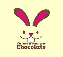Easter rabbit I'm here to STEAL your CHOCOLATE by jazzydevil