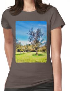 Trees in a Row Womens Fitted T-Shirt