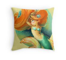 Ginger Mermaid Throw Pillow