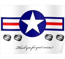 U.S. Military...Thank You for your Service! Poster