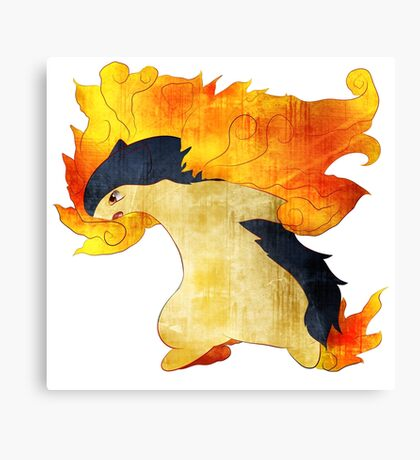 Typhlosion- The Volcano Pokemon Canvas Print